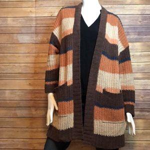 american eagle ultra soft stripe knit cardigan